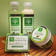 Nourishing Bath Set | Shampoo, Conditioner, Body Cream, & Handmade Soap
