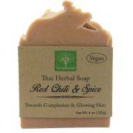 Red Chili & Spice Soap | Smooth Complexion & Glowing Skin | Handmade Soap | Vegan (Quantity: Single)