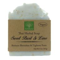Sweet Basil & Lime Soap | Reduces Blemishes & Tightens Pores | Handmade Soap | Vegan (Quantity: Single)