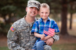 Veterant dad with son